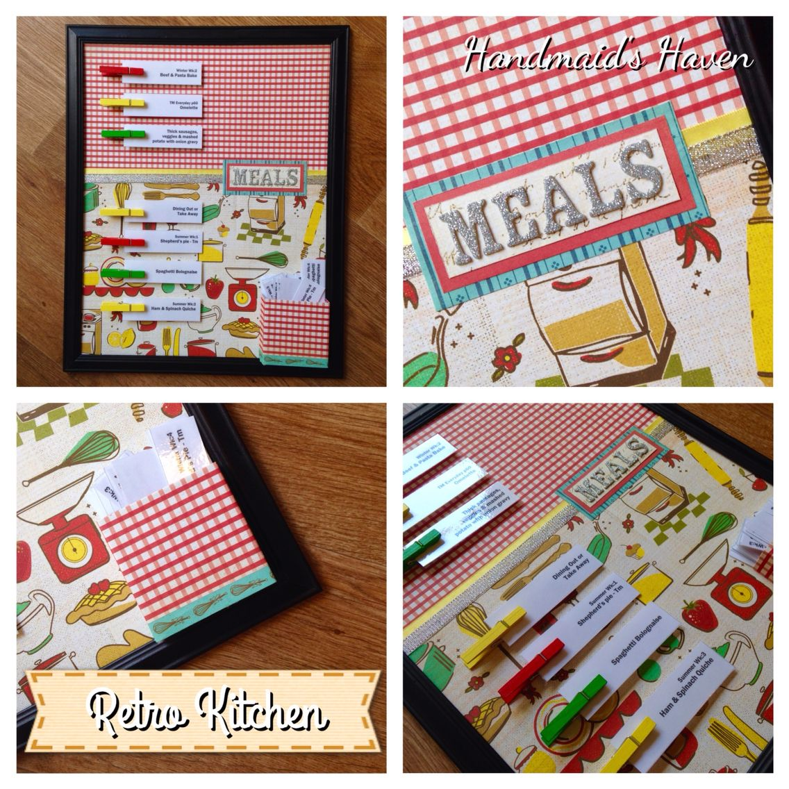 'Retro Kitchen' Meal Planner. $50 + postage or local pick up Springfield Lakes. Visit my FB page 'Handmaid's Haven' for more info or to place an order.