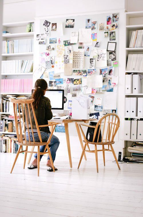 Cork Wall Office Workspaces