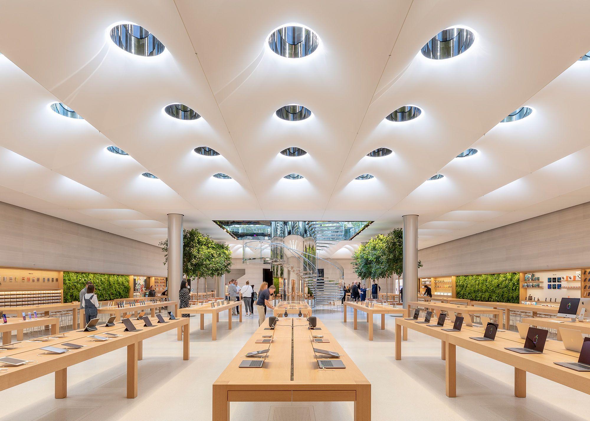Tech Wahrzeichen Apple Store Fifth Avenue Von Foster Partners Apple Store Architektur Manhattan