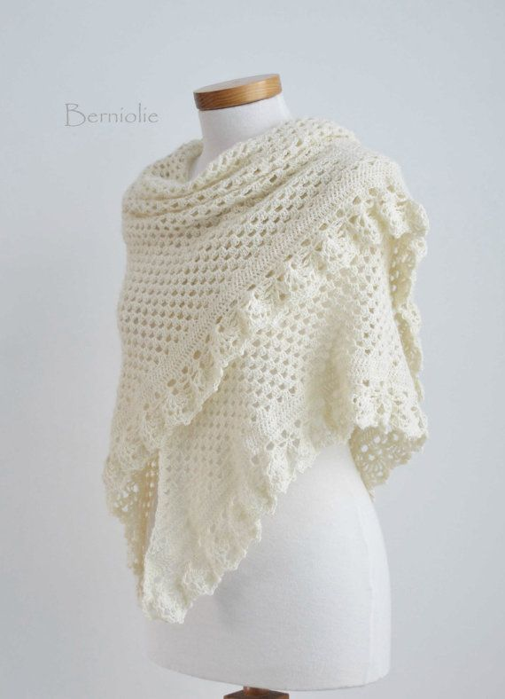 ASHLEY crochet shawl pattern pdf | tejido | Pinterest | Tejido