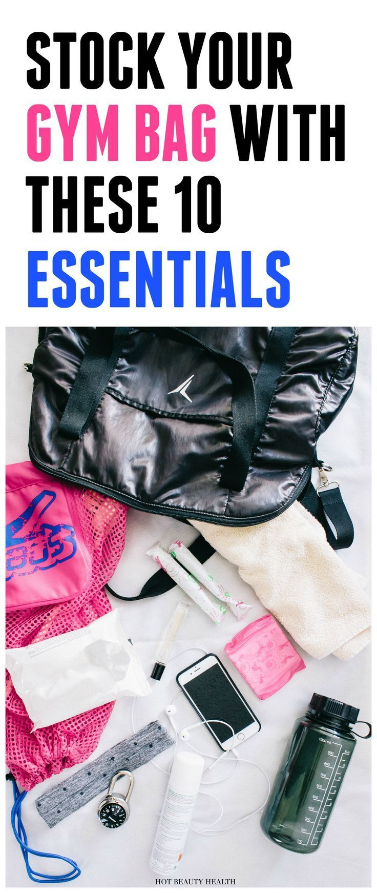 f6b37ead2302b2 A list of what I keep in my gym bag and the kind of workout essentials  (like towels, clothes, women products, etc) I always have with me.