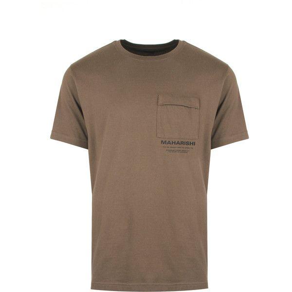 Maharishi Miltype T-Shirt (390 BRL) ❤ liked on Polyvore featuring men's fashion, men's clothing, men's shirts, men's t-shirts, mens jersey t shirt, mens patterned t shirts, mens t shirts, mens leopard print t shirt and men's regular fit shirts