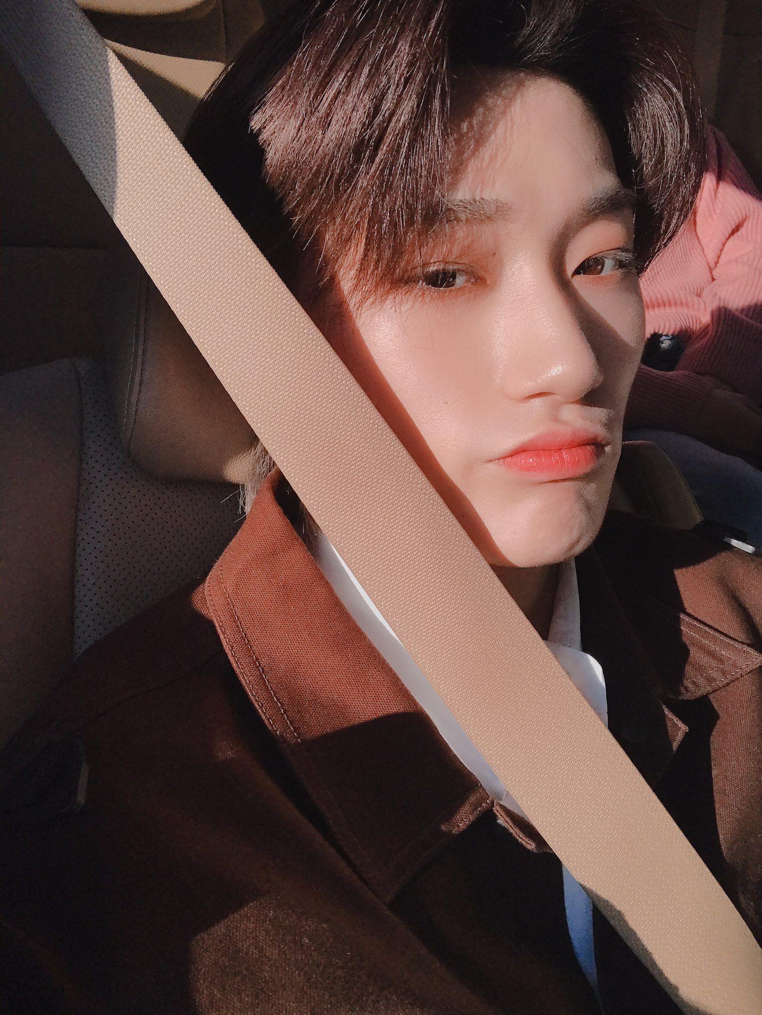 ateez choi san boyfriend material black hair 2019