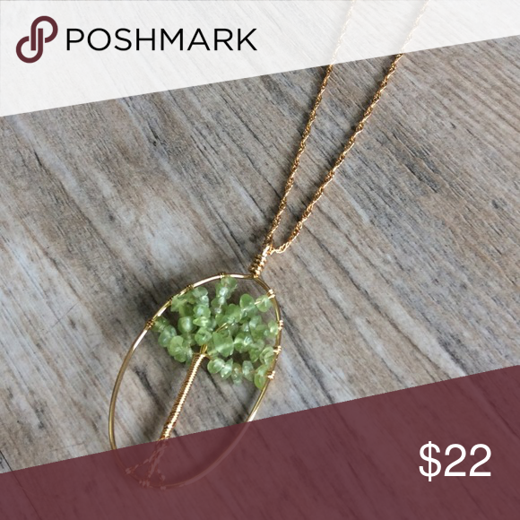 """🆑LAST1 🆕 OJDC Genuine Aventurine Genuine aventurine set in the beautiful """"tree of life"""" design.  Made from hypoallergenic, lead and nickel free alloy (brass) in gold-tone.  This design brings a boho chic style to the minimalist. OJDC Jewelry"""
