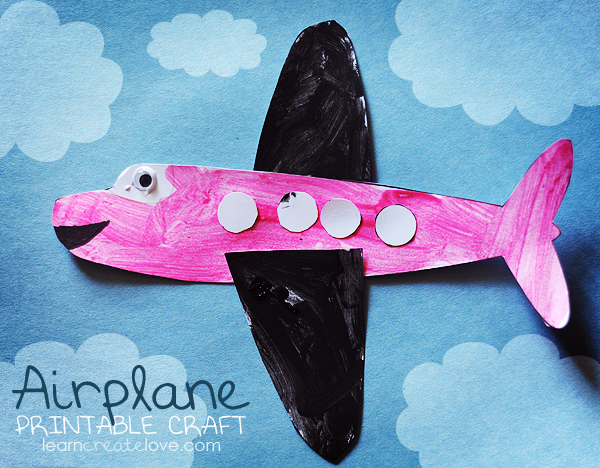 Printable Airplane Craft Transportation Crafts Airplane Crafts Transportation Preschool