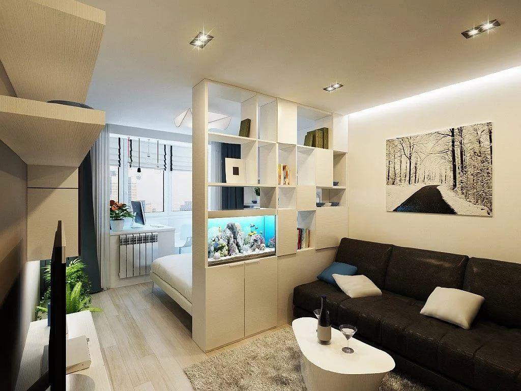 дизайн однокомнатной квартиры 30 квм фото в современном стиле 3
