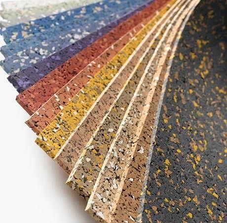 8mm strong rubber rolls designer series rubber for Rubber wood flooring