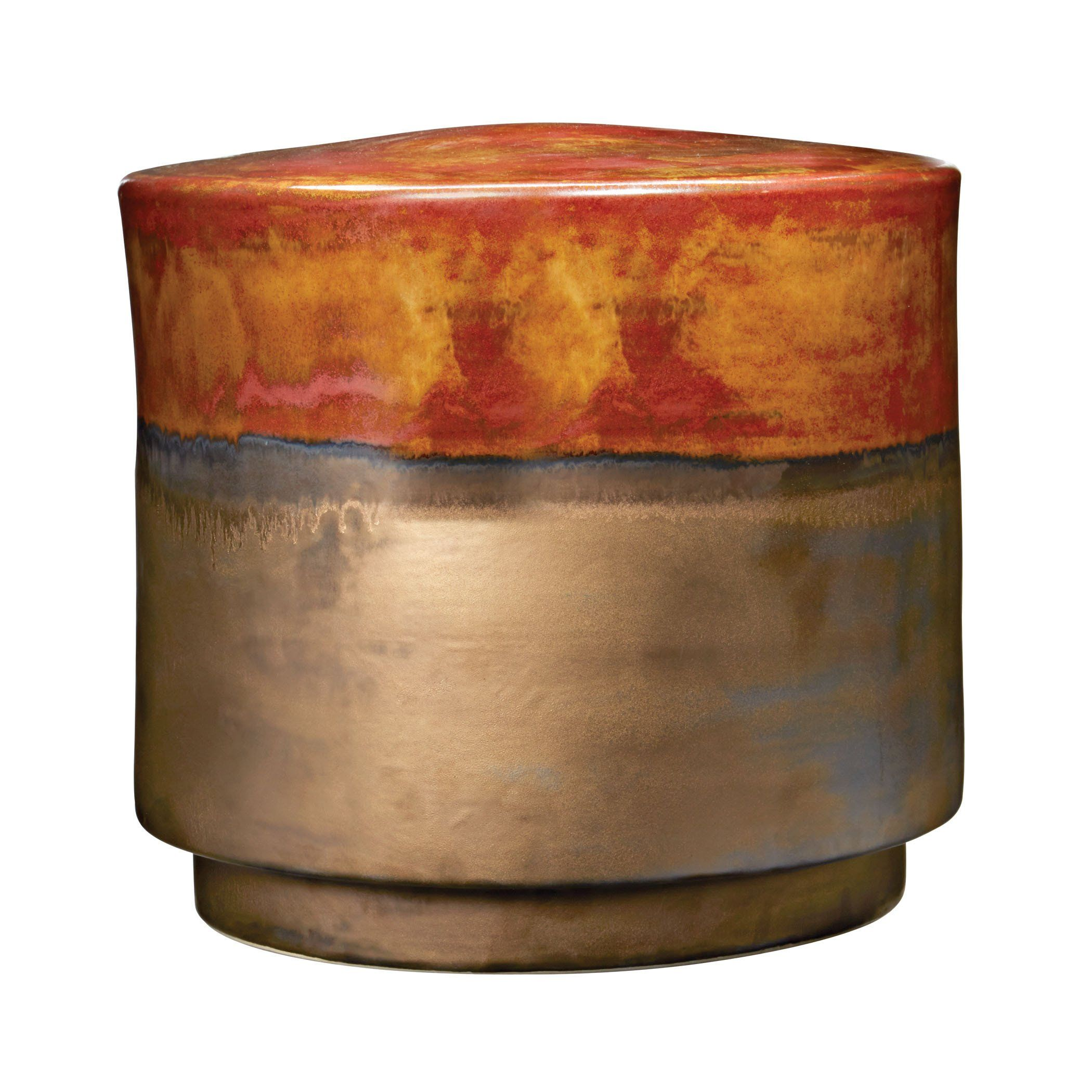 Coffee And Burnt Gold Garden Stool - Short | Stools and Products