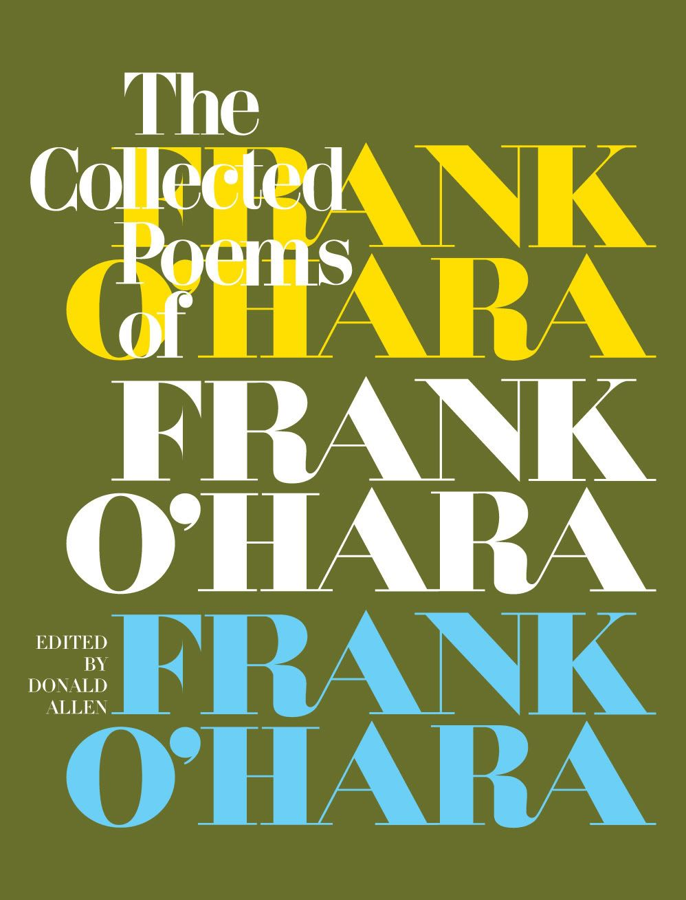 The Collected Poems Of Frank Ohara Book Cover Design
