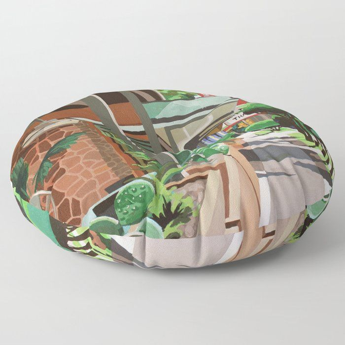 "Cactus Cafe Floor Pillow by Melindapatrick - ROUND - 30"" x 30"""