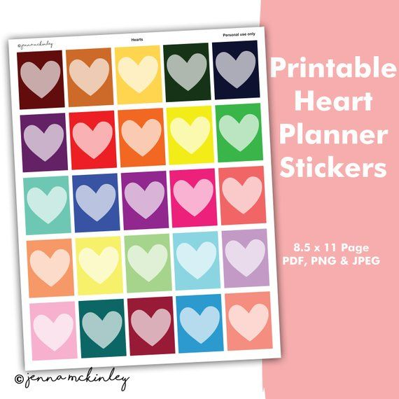 Printable Planner Heart Decorative Theme Month Weekly Daily Calendar - Daily Calendar Printable