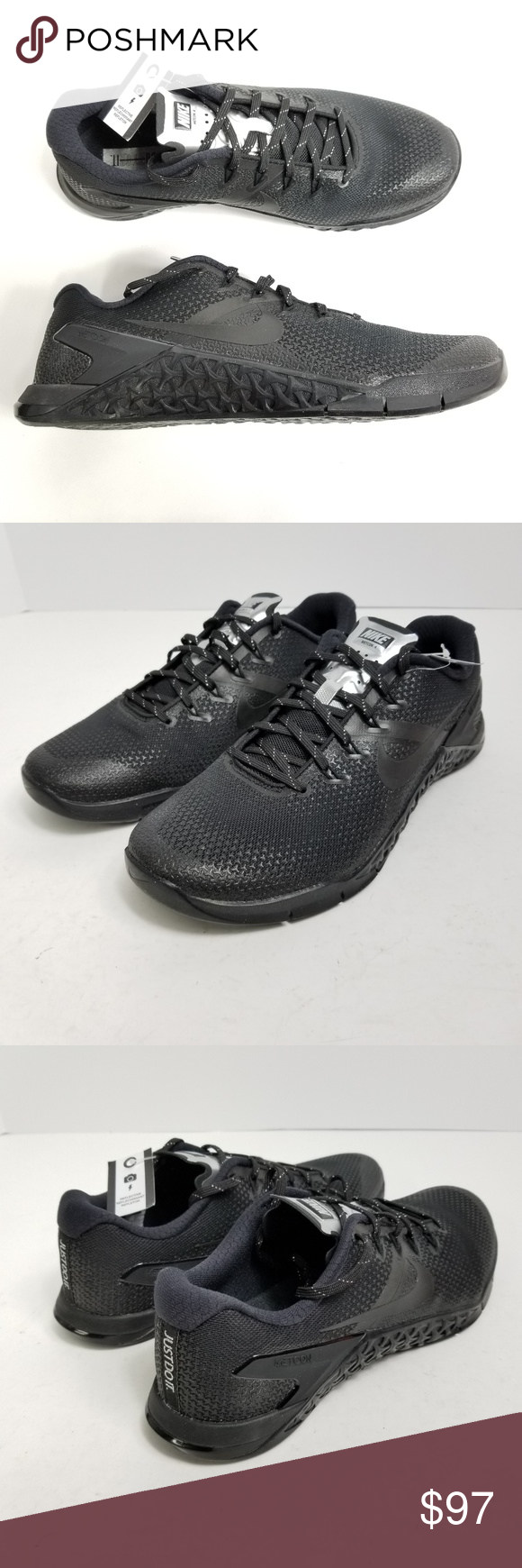 5ecde506782c Nike Women Metcon 4 Selfie Training Shoes 9 9.5 10 Nike Womens Metcon 4  Selfie Training Shoes Sz 9 9.5 10 Black Chrome AH8194 001 New without box!