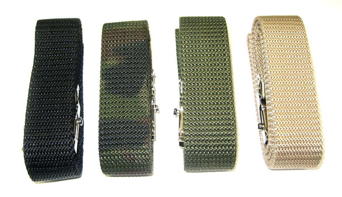 Different shades of military belts are available at us.  For more details click on the below link or call us on +9833884973/9323558399  http://tapeswebbingstraps.in/  Courtsey : Tapes Webbing strap
