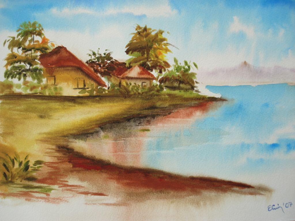 Manzara Cizimleri Renkli Pastel Kolay Cizim Manzara Resimler