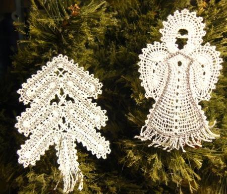Advanced Embroidery Designs - FSL Battenberg Christmas Ornament Set