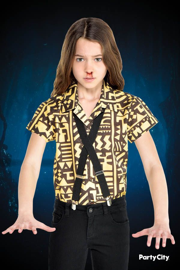 Child Eleven Battle Outfit Costume Accessory Kit  Stranger Things Child Eleven Battle Outfit Costume Accessory Kit  Stranger Things