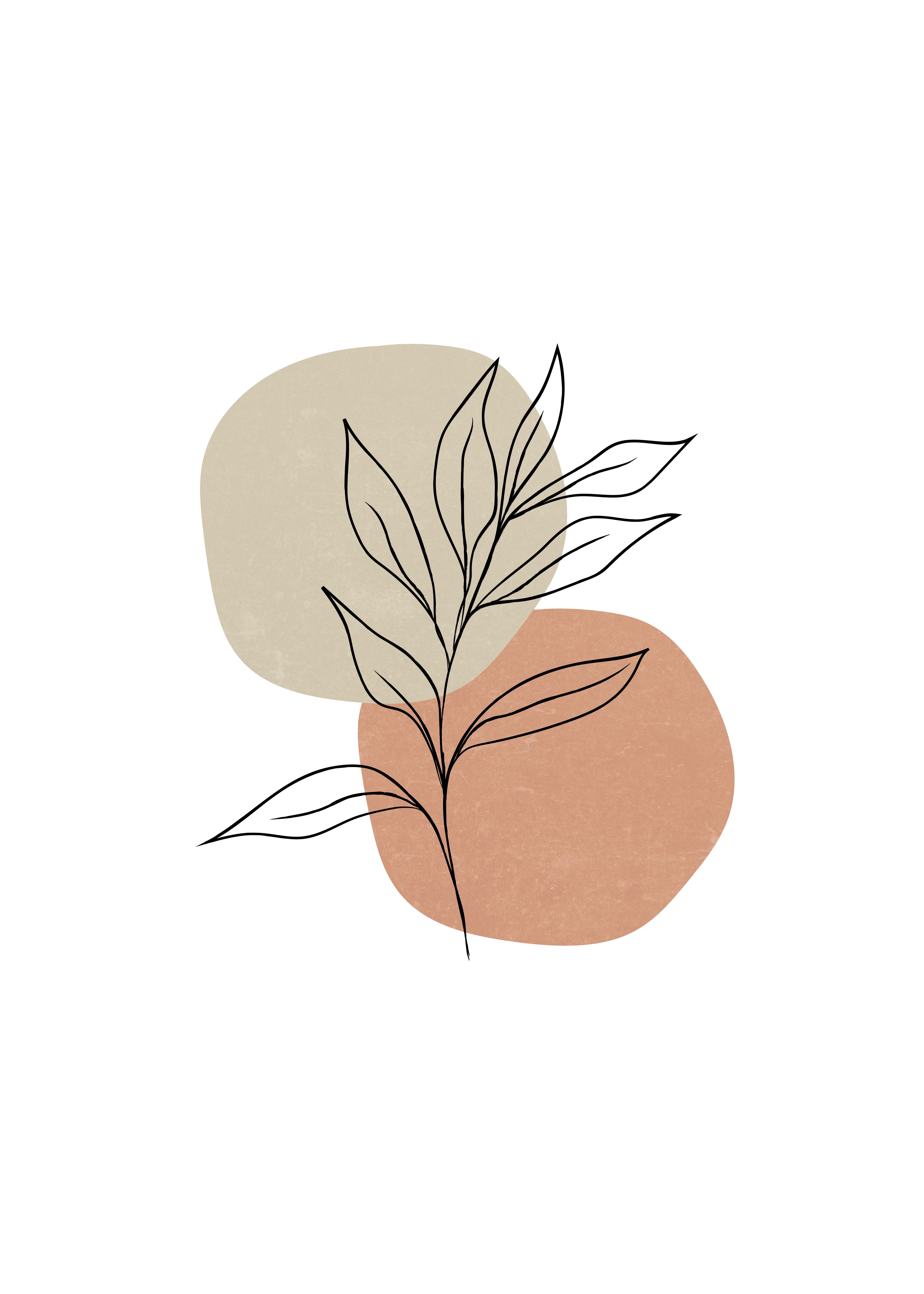 Minimalist Plant Art   Botanical Art Print   Minimalist Wall Decor   Printable Wall Art   Digital
