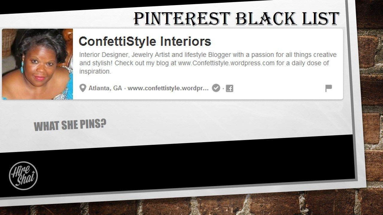 Pinterest Black List - The First 100 @ConfettiStyle Interiors