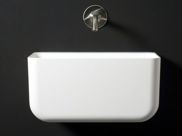 Wall-mounted Cristalplant® washbasin VOL Washbasins Collection by Boffi | design Victor Carrasco