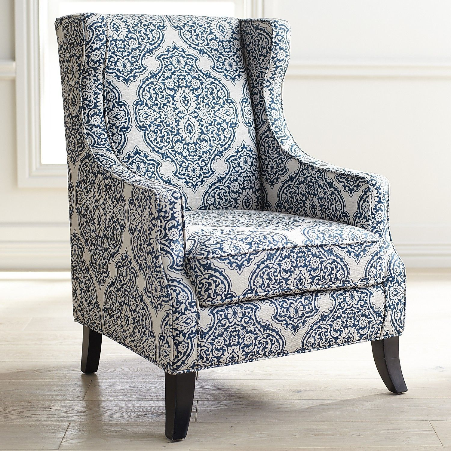 Alec indigo blue wing chair blue wing chair blue accent