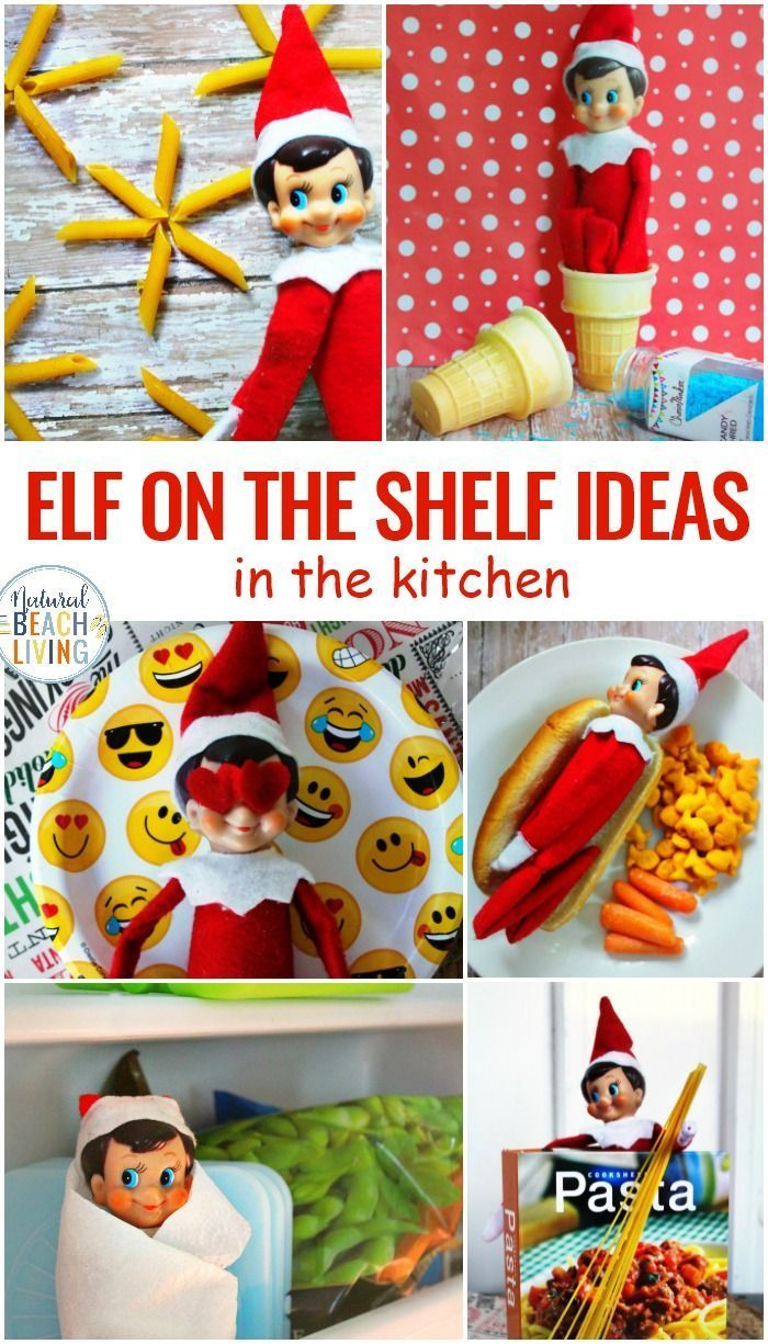 Elf on the Shelf Ideas for the Kitchen ,  #Elf #elfontheshelfideasfortoddlersprintables #idea... #elfontheshelfideasfortoddlers