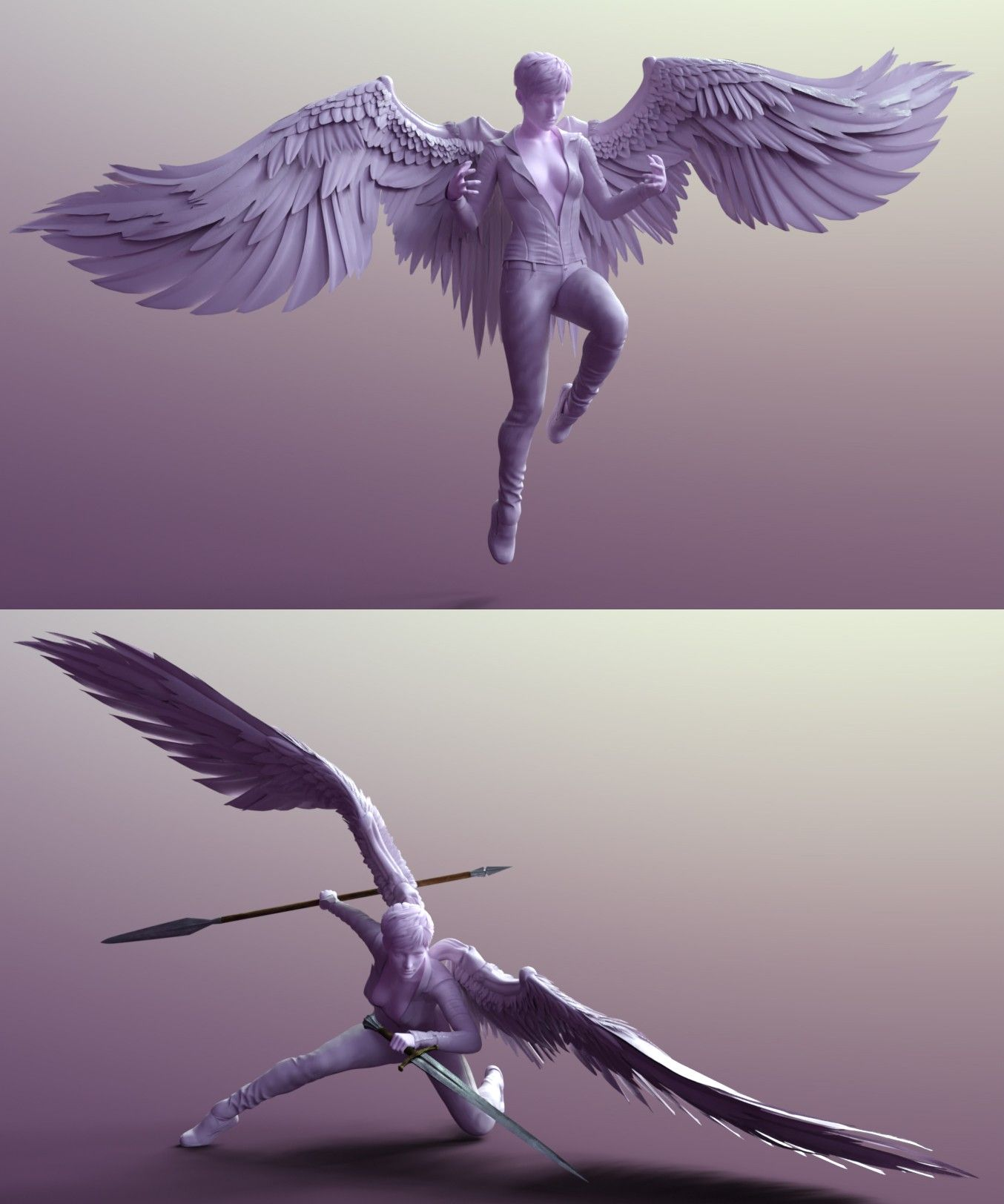 Sacrosanct Poses And Expressions For Genesis 8 And Morningstar Wings 3d Models And 3d Software By In 2020 Wings Drawing Art Reference Poses Drawing Reference Poses