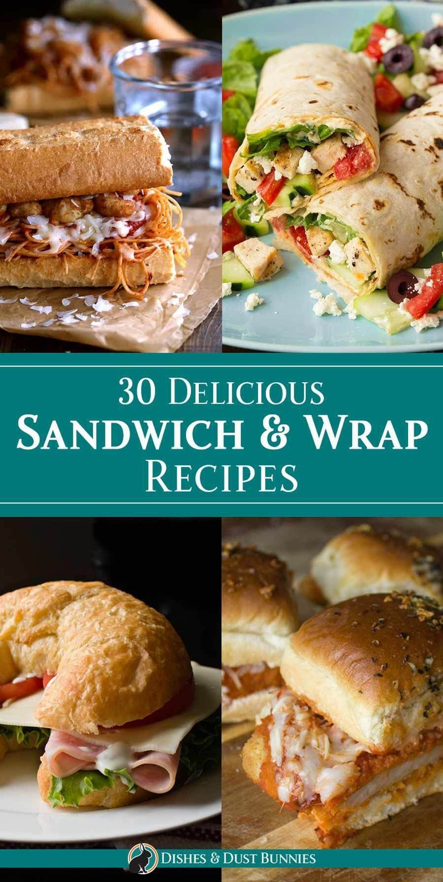 30 Delicious Sandwich & Wrap Recipes -   You don't have to settle for the same ol' boring lunch! This week, change things up a bit with one of the delicious sandwiches and wraps in todays roundup - they're sure to please just about everyone!Which one will you make for your next lunch? - 30 Delicious Sandwich & Wrap Recipes via Michelle Varga (Dishes and Dust Bunnies) -  Homepage      If you want to have a stylish and satisfying dinner with your loved ones, this recipe will meet all your wishes