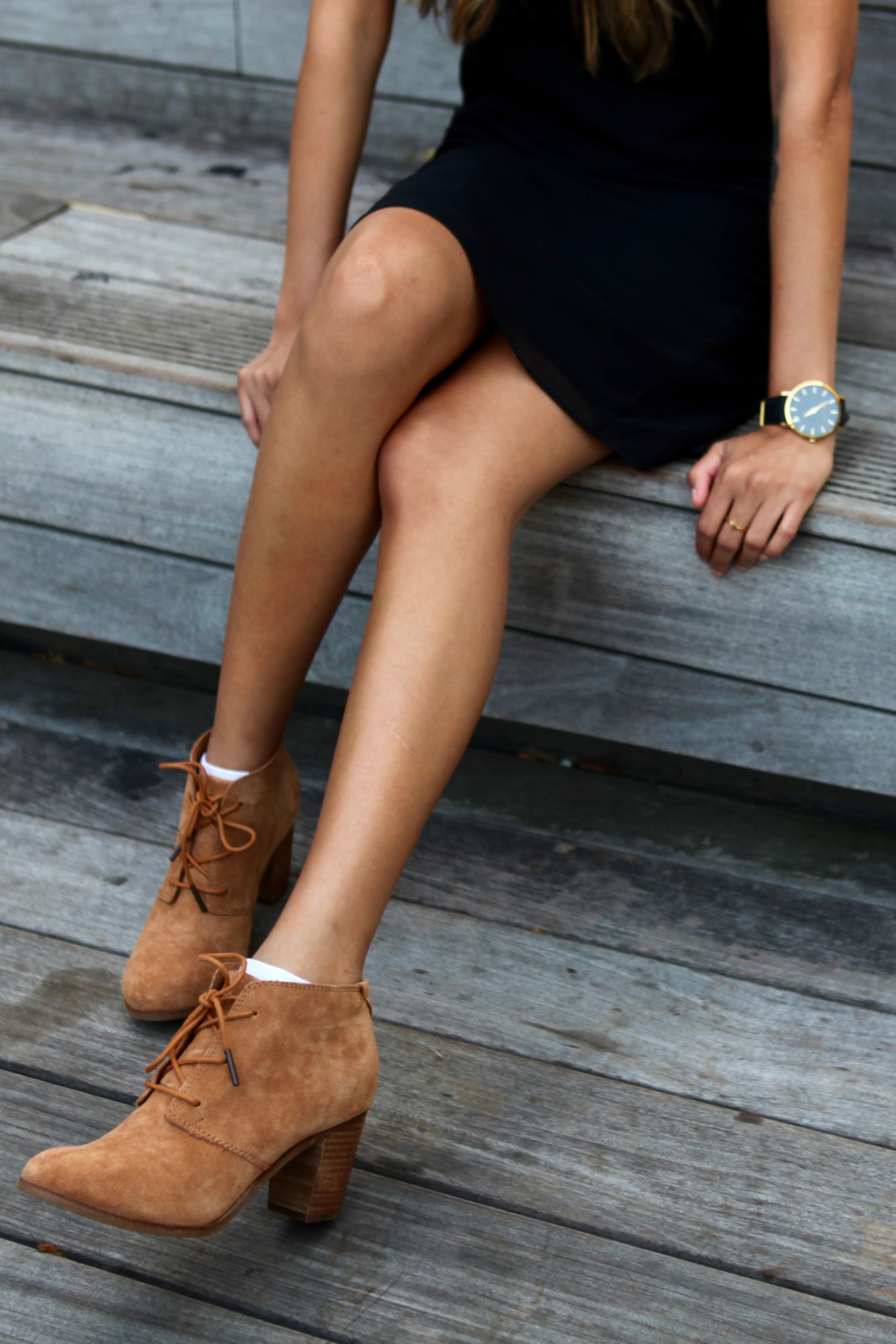 ade1e94bd86 TOMS Lace-Up Lunata Booties. You can dress these wheat suede ankle boots up  or down all season long.