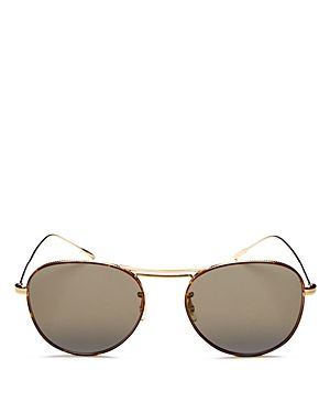 18527eed7 OLIVER PEOPLES CADE BROW BAR MIRRORED AVIATOR SUNGLASSES, 51MM. # oliverpeoples #