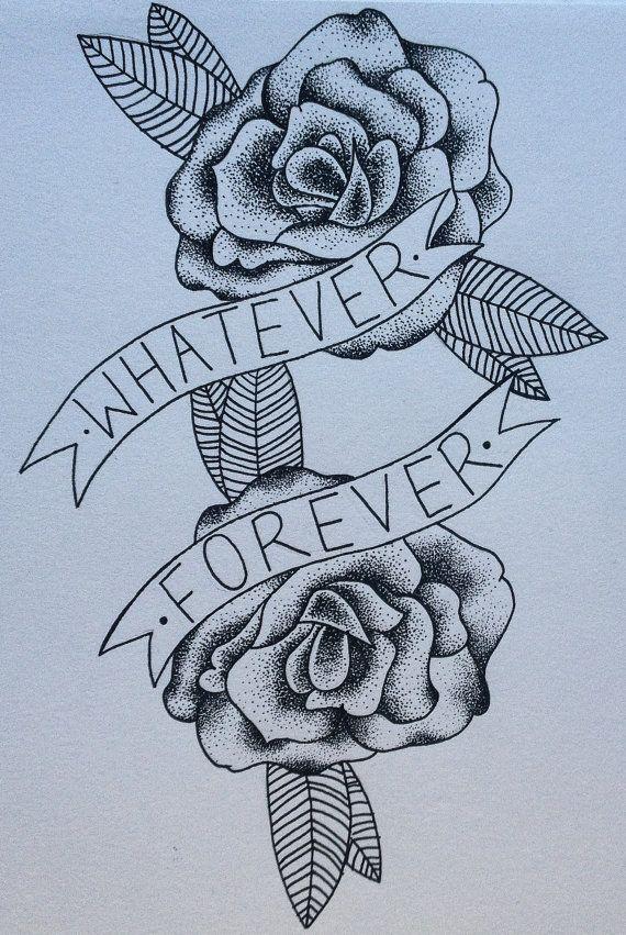Modern Baseball Whatever Forever Lyric And Dotwork Etsy Forever Tattoo Tattoos Punk Tattoo