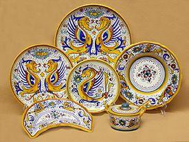 Raffaellesco Majolica Dinnerware