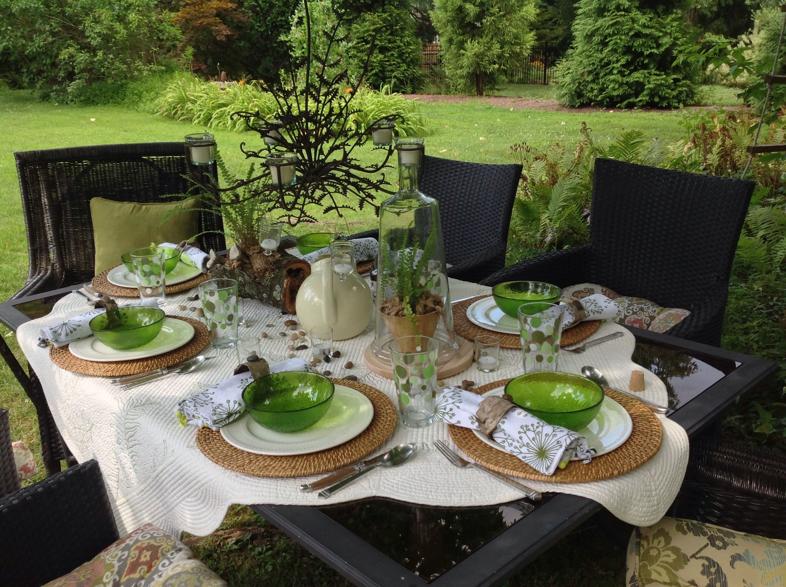 Image result for outdoor table settings Outdoor table