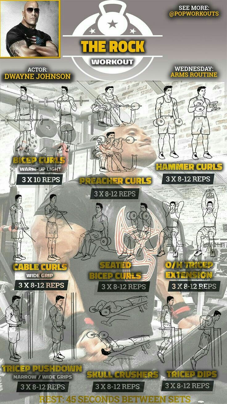 the rock fitness routine