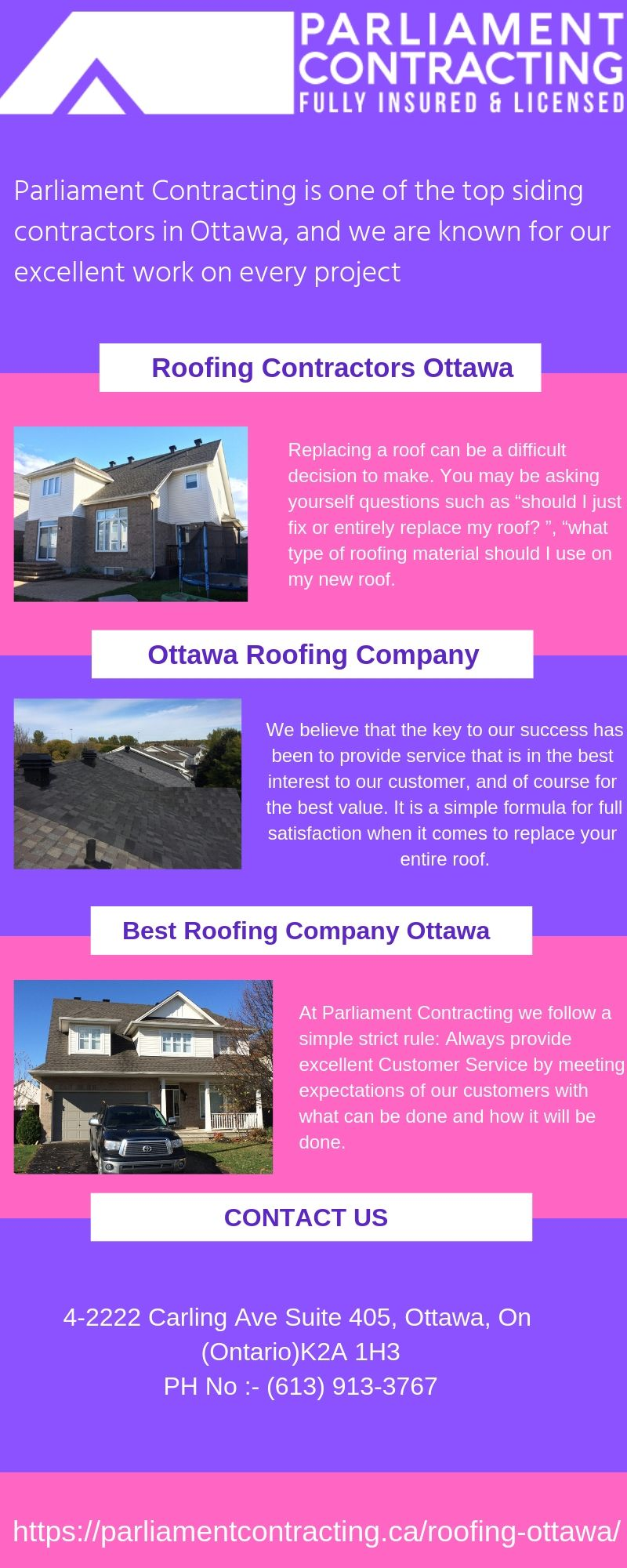 Roofing Ottawa Siding contractors, Roofing contractors