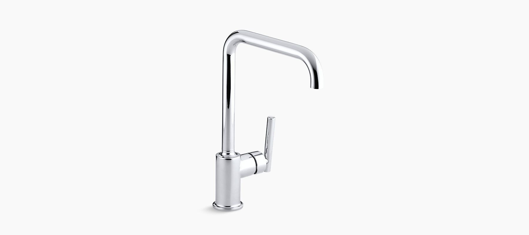 With its higharch swing spout and side lever handle the k
