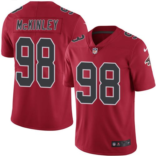 Top Nike Falcons #98 Takkarist McKinley Red Men's Stitched NFL Limited  supplier