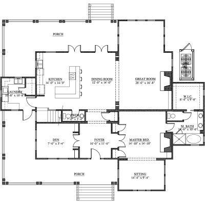 Double Hearth Cottage, 4 bed, 3.5 bath | House plans | Pinterest ...