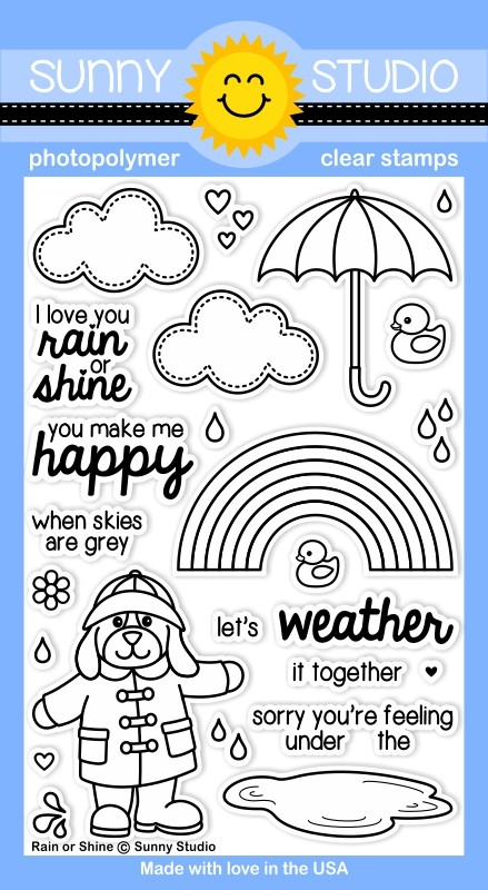 Sunny Studio Stamps - Clear Acrylic Stamps - Rain or Shine ...