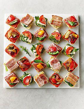 Antipasti Mini Canap 233 Selection 24 Pieces Food