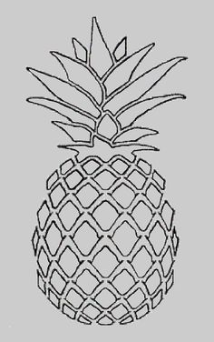 Drawings Of Pineapples Google Search Pineapple Drawing Line Art Drawings Pineapple Art