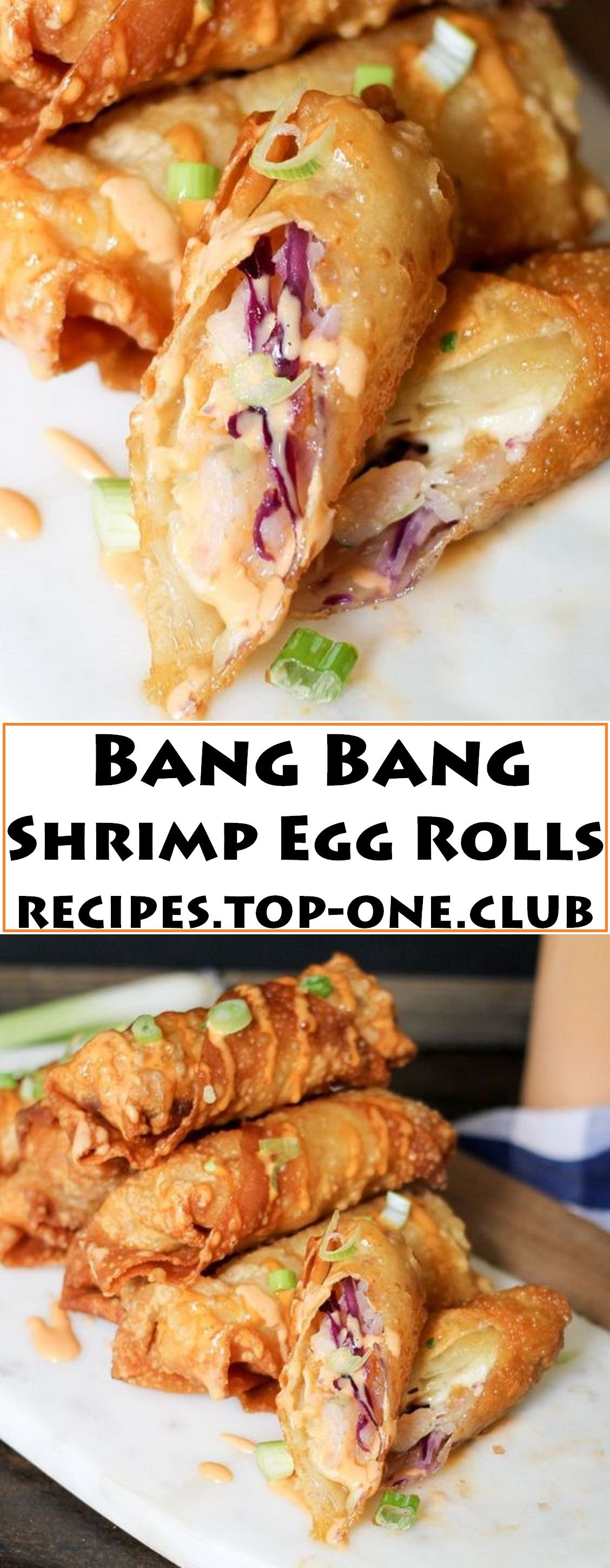 Bang Bang Shrimp Egg Rolls  #seafooddishes