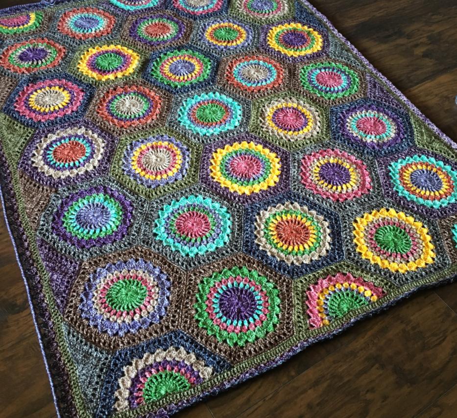 Hexagon burst crochet blanket pattern crochet blankets blanket hexagon burst crochet blanket pattern bankloansurffo Image collections