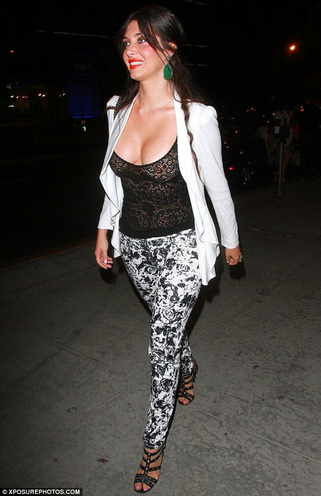 84c1ac12e8a91 Brittny Gastineau bares all as she steps out in a lace top with no bra -  The 28-year-old was heading into a Hollywood nightclubmalfunction