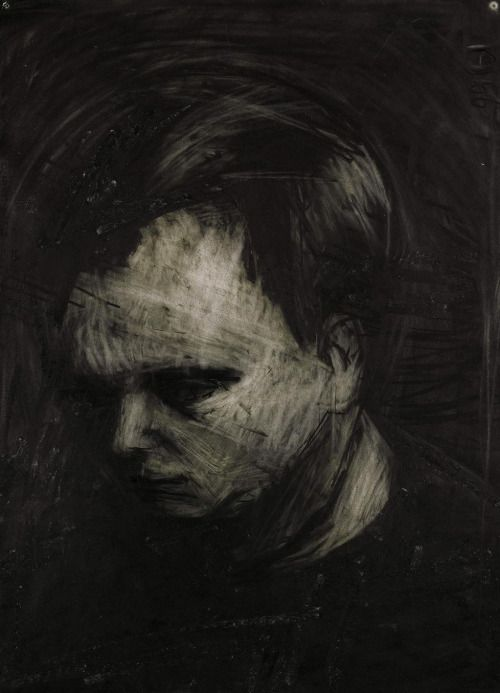 Frank Auerbach (British, b. 1931), Head of Leon Kossoff, 1956