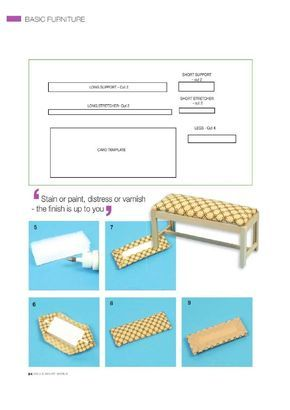 tutorial miniature bench ctafty pinterest puppenstube puppen und m bel. Black Bedroom Furniture Sets. Home Design Ideas