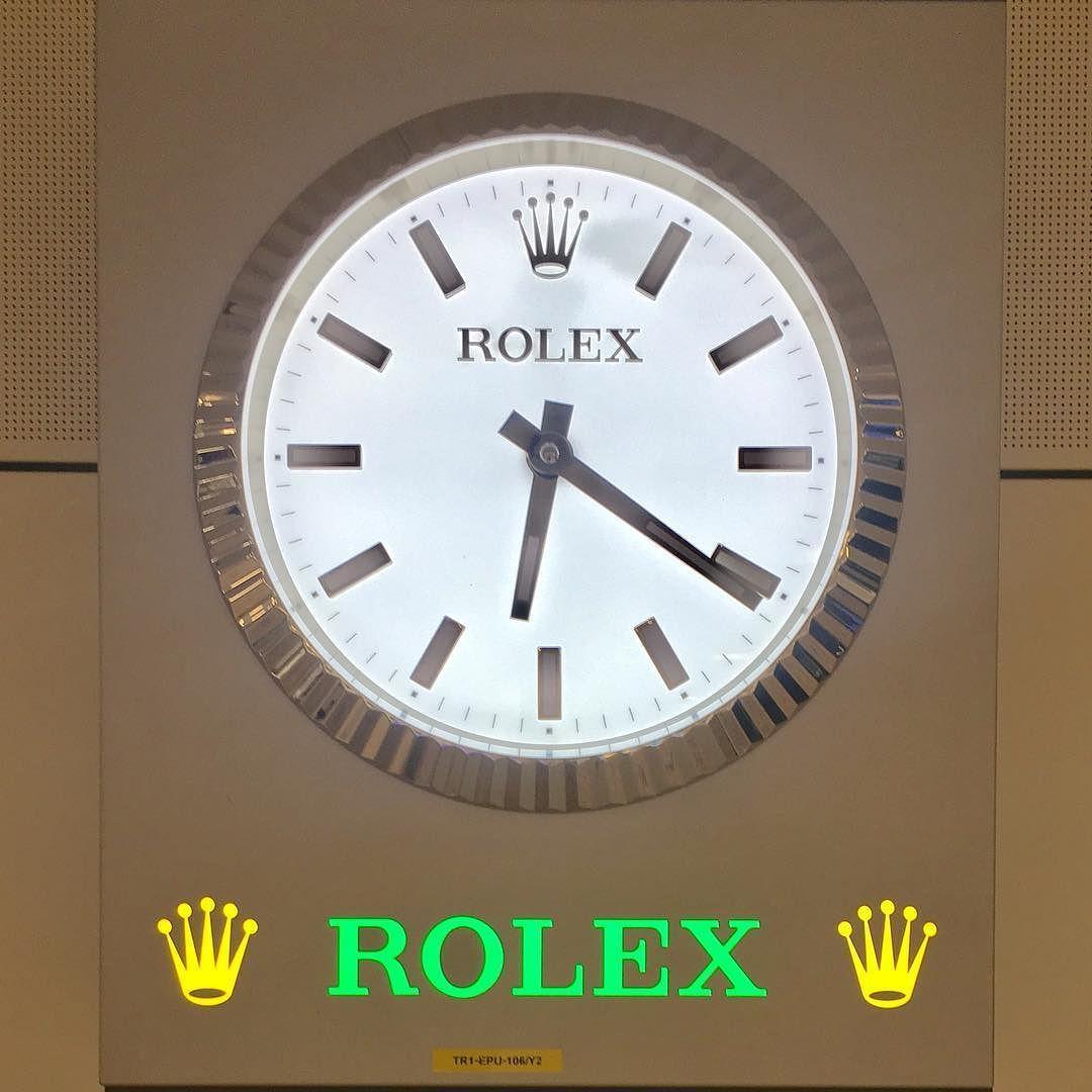 Rolex Wall Clock Dubai Dubaiairport Rolex Wallclock Orologio