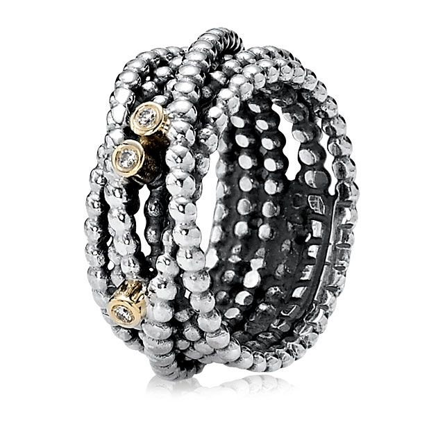 Pandora Entangled Beauty with 14K and Diamond Ring June 6-30, 2014 Buy 2  Rings and we'll give you a 3rd Ring! #pandora #elisailana #stackedrings |  Pinterest ...