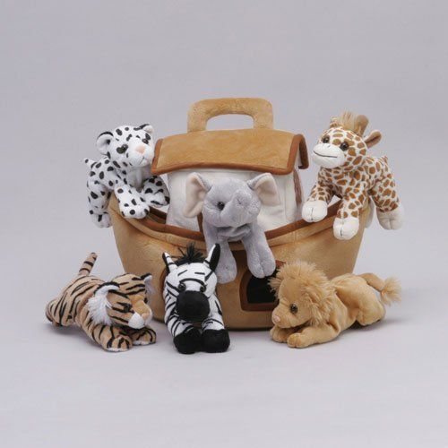 Amazon Com Plush Noah S Ark With Animals Six 6 Stuffed