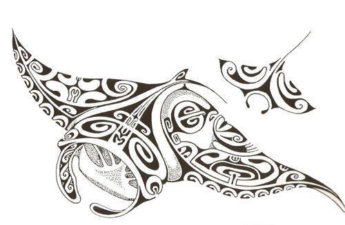 Tatouage polyn sien histoire symbolique et motifs des tatau polyn siens tatouage raie - Symbolique des tatouages ...