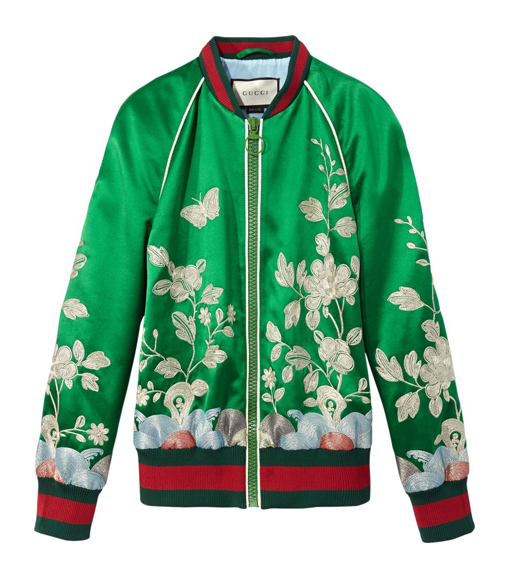 a7cdd4a55 Gucci Silk Floral Bomber Jacket | Apparel We Love | Floral bomber ...